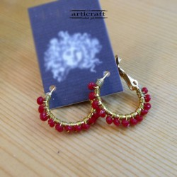 Handmade Earings Red (E285)