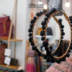 Handmade Earings Black (E290)