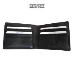 Leather wallet black medium...