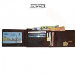 Leather wallet oil brown...