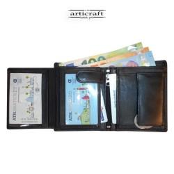 Leather wallet black big...
