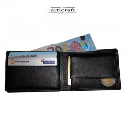Leather wallet black small...