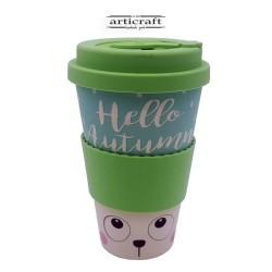 """Bamboo Mug 400ml """"Hello..."""