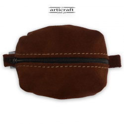 Taba suede leather necessaire(Α423)