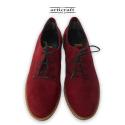 Δετό ημίμποτο παπούτσι μπορντό (Α428)