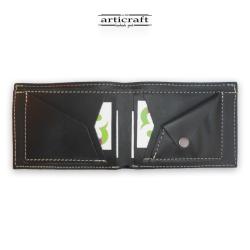 Ανδρικό δερμάτινο χειροποίητο πορτοφόλι με θήκη για κέρματα (Α432)