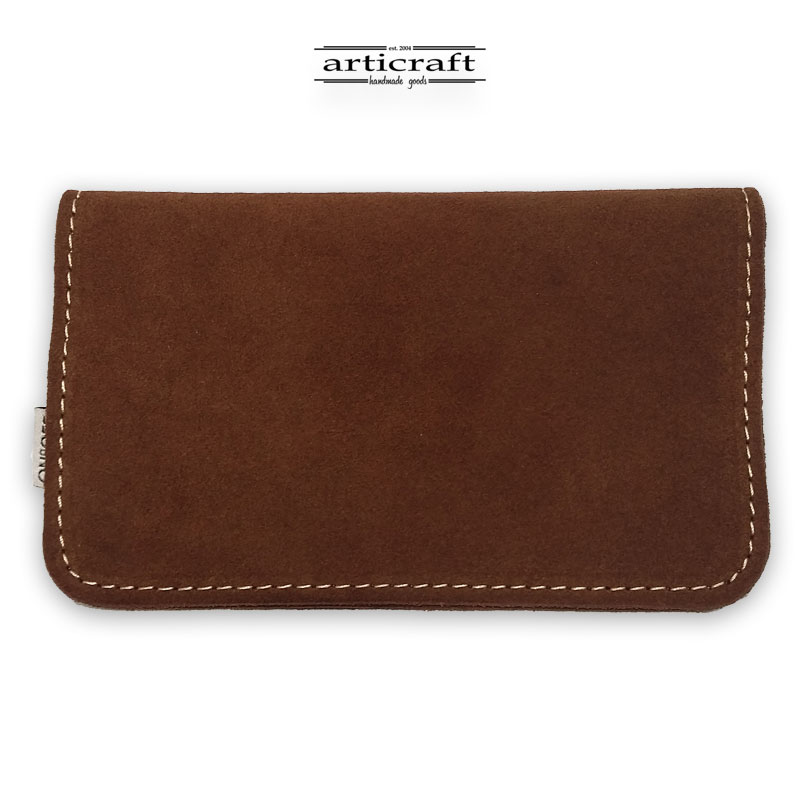 Leather tobacco pouch medium size brown (Α436)