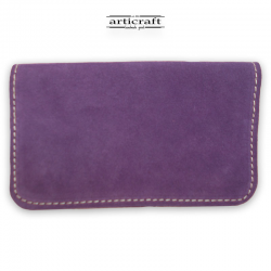 Leather tobacco pouch medium size purple (Α441)