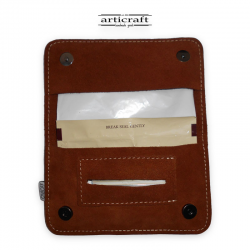 Leather tobacco pouch medium size blue (Α400)