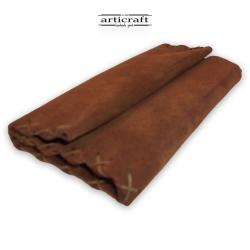 Καπνοθήκη καστόρινη τρίπτυχη καφέ (Α447)