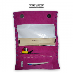 Leather tobacco pouch classic size (Α449)
