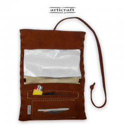 Leather tobacco pouch classic size (Α460)