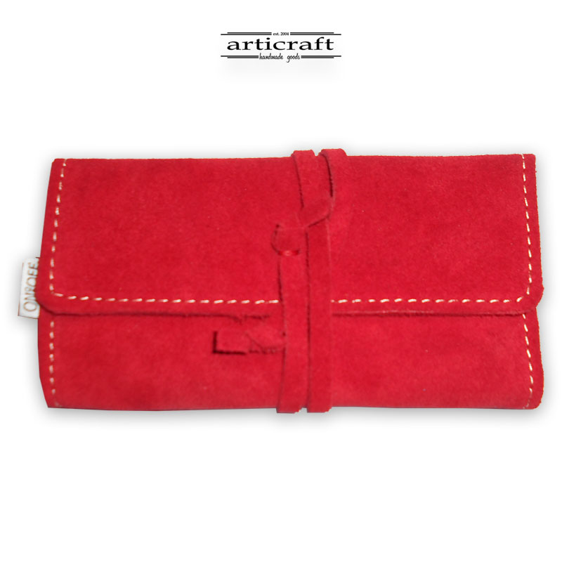 Leather tobacco pouch classic size (Α487)