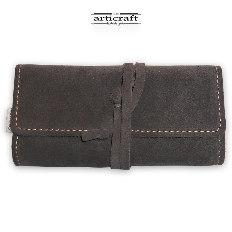 Leather tobacco pouch classic size (Α492)