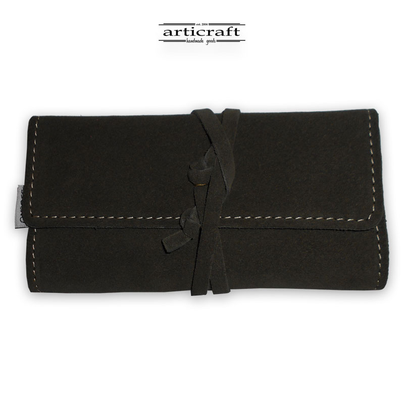 Leather tobacco pouch classic size (Α493)