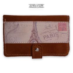 """Πορτοφόλι καστόρι ταμπά """"Eiffel Tower"""" (Α508)"""