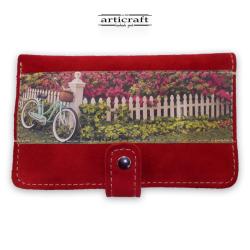 """Ππορτοφόλι καστόρι κόκκινο """"Ποδήλατο"""" (Α509)"""