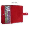 """Γυναικείο πορτοφόλι καστόρι κόκκινο """"Ποδήλατο"""" (Α509)"""