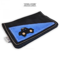 Suede tobacco pouch car (Α327)
