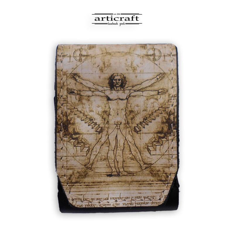 "Cigarette case ""Vitruvian Man"" (A522)"