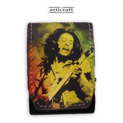 """Δερμάτινη θήκη για τσιγάρα """"Bob Marley"""" (A523)"""