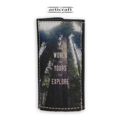 """Κλειδοθήκη δερμάτινη """"Explore"""" (Α552)"""