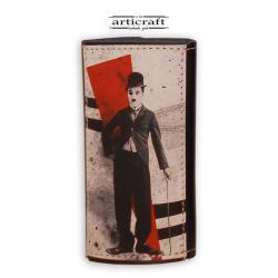 """Κλειδοθήκη δερμάτινη """"Charlie Chaplin"""" (Α555)"""