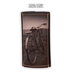 """Κλειδοθήκη δερμάτινη """"Ποδήλατο"""" (Α556)"""