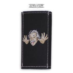 """Κλειδοθήκη δερμάτινη """"Albert Einstein"""" (Α559)"""