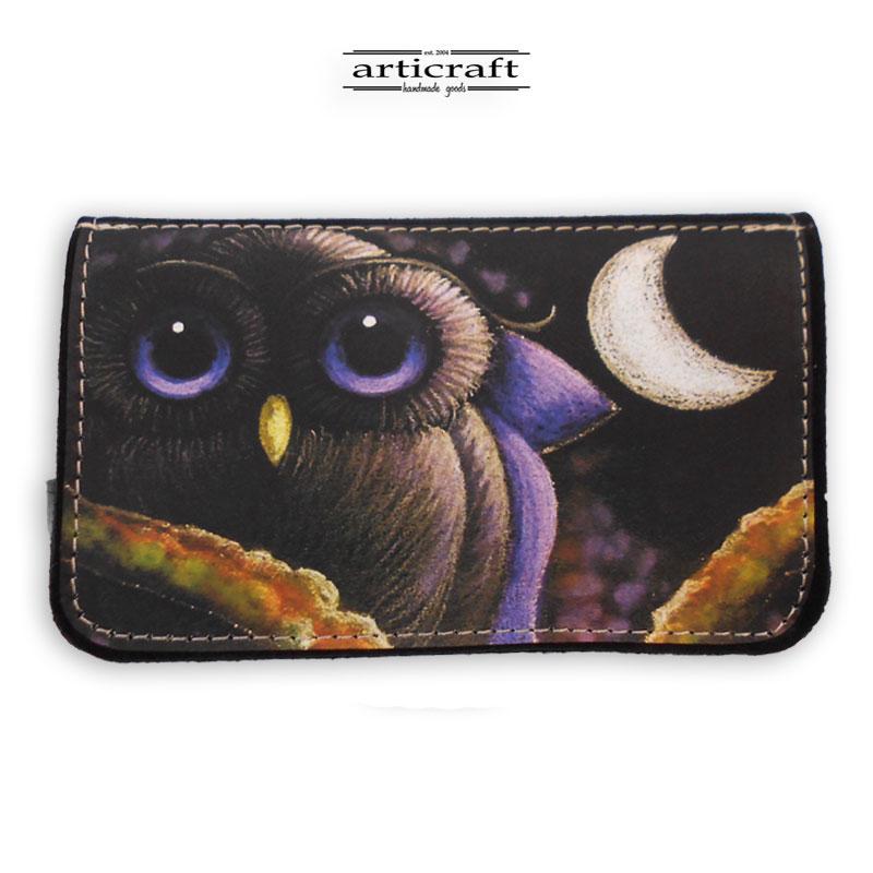 "Tobacco pouch ""Owl art"" (Α567)"