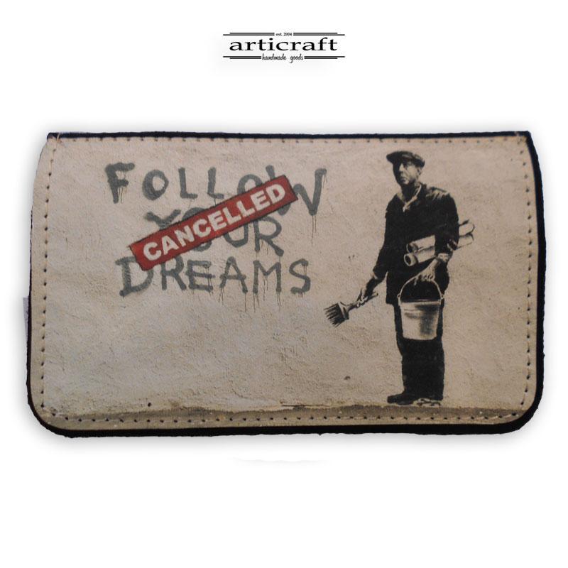 """Καπνοθήκη """"Follow your dreams -Banksy"""" (Α577)"""