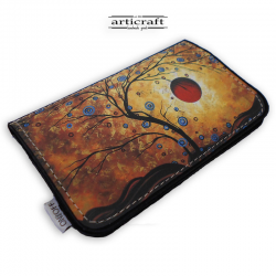 "Tobacco pouch ""Red sun tree"" (Α579)"