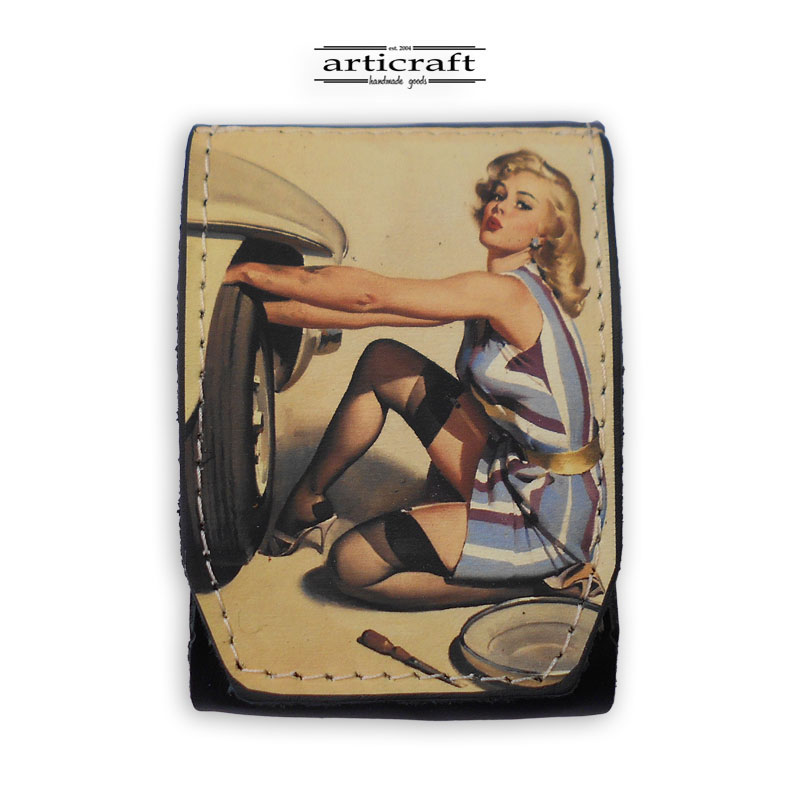 """Cigarette case """"Pin up girl"""" (A595)"""