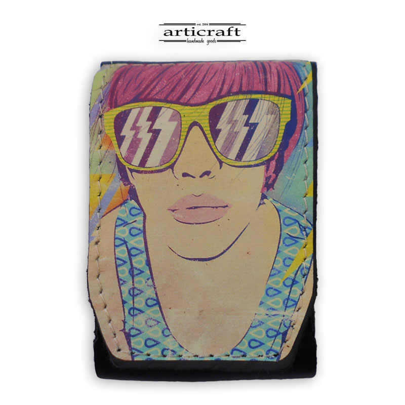 "Cigarette case ""Girl face"" (A600)"