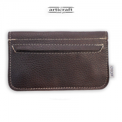 Leather tobacco pouch medium size brown (Α601)