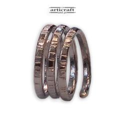 Δαχτυλίδι σπιράλ 3 σειρές (Ε010)
