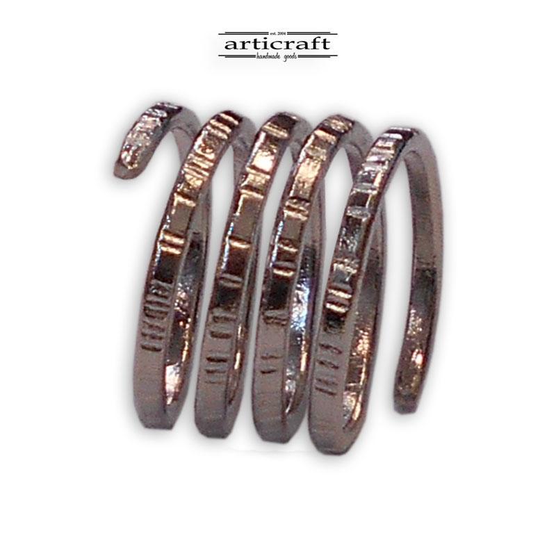 Δαχτυλίδι σπιράλ 4 σειρές (Ε013)
