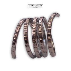 Δαχτυλίδι σπιράλ 5 σειρές (Ε014)