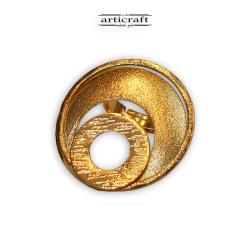 Δαχτυλίδι χρυσοί κύκλοι (Ε027)