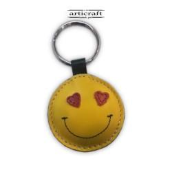 """Μπρελόκ δερμάτινο """"Smile"""" (Α715)"""