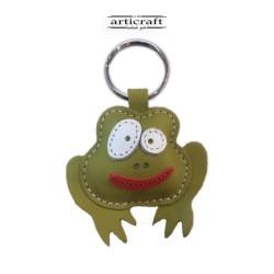 """Μπρελόκ δερμάτινο """"Βάτραχος"""" (Α718)"""