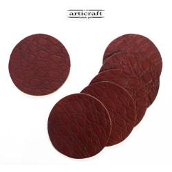 Σετ σουβέρ δερμάτινα κόκκινα (Α741)