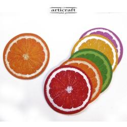 """Σετ σουβέρ δερμάτινα """"πορτοκάλι"""" (Α742)"""