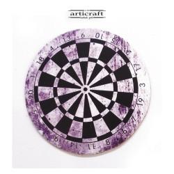 "Leather coasters set ""dartboard"" (Α744)"
