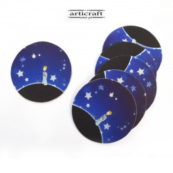 "Leather coasters set ""Little Prince"" (Α745)"