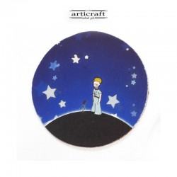 """Leather coasters set """"Little Prince"""" (Α745)"""