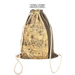 Basic backpack linen cotton Dafne (T081)