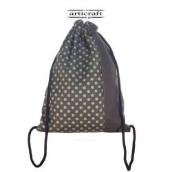 Basic backpack linen cotton Dafne (T082)
