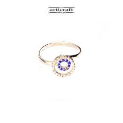 Ασημένιο δαχτυλίδι μπλε κύκλοι (Ε156)