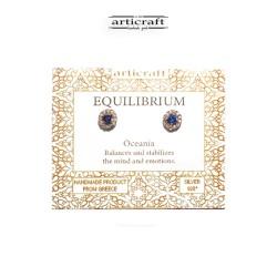 Ασημένια σκουλαρίκια Equilibrium (Ε176)